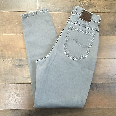Vintage 80s/90s Womens LEE High Waist Jeans Tapered Leg 100% Cotton Size 27 x 30