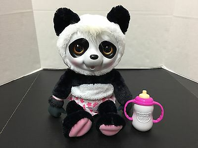 Animal Babies Nursery 14 Inch Baby Panda Bear Plush Bottle Diaper
