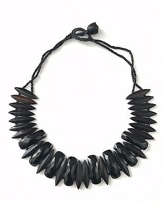 Victorian French Jet & Early Bakelite Necklace