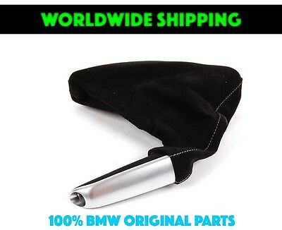 Bmw E46 Performance Parking Brake Handle With Boot Alcantara Genuine New