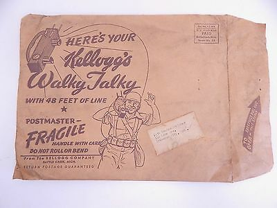 1940's Vintage Kellogg's WWII Walky Talky Cereal Premium with Original Mailer