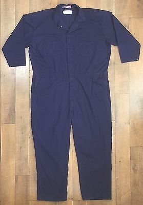 UNIVERSAL CO Mens Blue Coveralls 100% Cotton Button Front Size 60 - RG