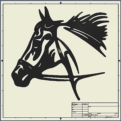 cnc dxf file ( horse_head )