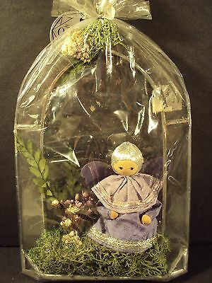 HTF Stained Glass ANGEL ORNAMENT or free standing OCTAGON Handcrafted POLAND