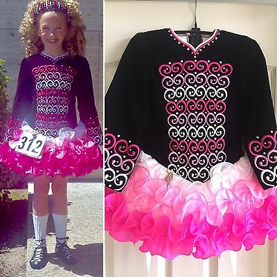 Dazzling Irish dance solo dress - ages 5-9** a show stopper!!
