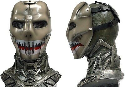 "New! Army of Two ""SharkFace"" Custom Fiberglass Paintball / Airsoft Mask"