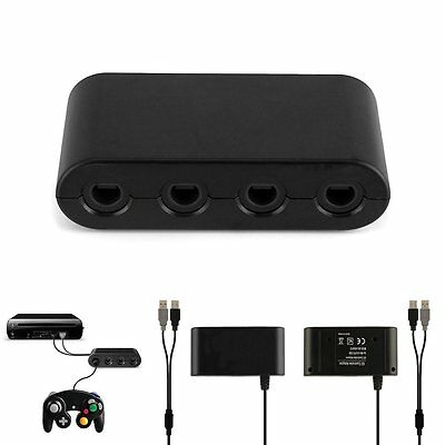 For Nintendo Wii U SUPER SMASH BROS GameCube Controller Adapter Converter New