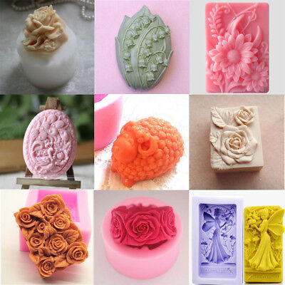 Silicone Ice Candle Candy Chocolate Cake Cookie Soap Molds Mould For Craft Lover