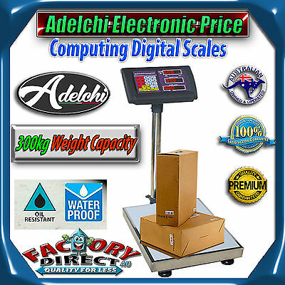 NEW! 300kg Electronic Commercial Digital Scale Platform Warehouse Weight Scales