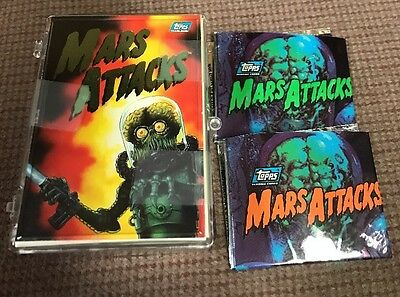 MARS ATTACKS! ARCHIVES (Topps/1994) Complete Trading Card Set (#0-#99) ALL 100!