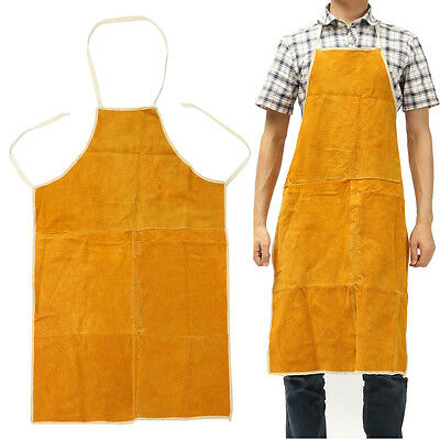 """Welding Welder Cowhide Leather Apron Heat Insulation Protect Clothing 28"""" x 39"""""""