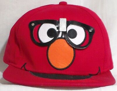 Sesame Street Cap Elmo With Glasses Red Hat Adjustable Size Plastic Snap Band
