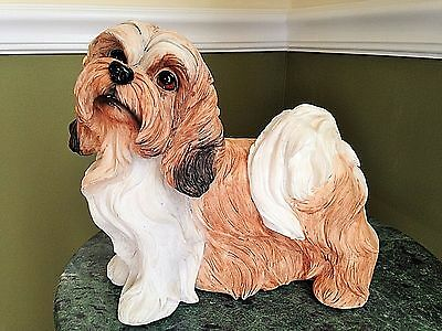 E & S Import Dogs -Llasa Apso Resin Shaded Figurine