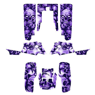 Yamaha Banshee 350 graphics full coverage decal kit #5555 Purple Boneyard