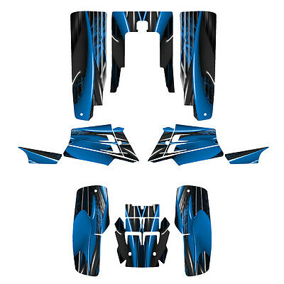 Banshee 350 graphics full coverage custom decal kit #3333 Blue
