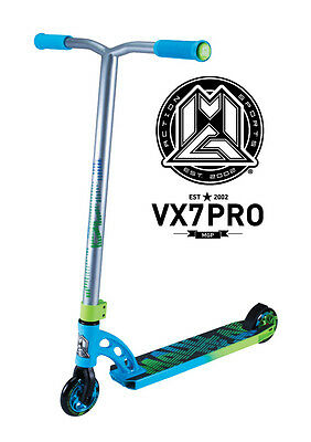 New 2017 Vx7 Madd Gear Mgp Pro Scooter Blue/green - Free Delivery