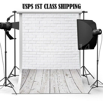 3x5FT Brick Wall Floor Photography Backdrop Photo Studio Props White Background