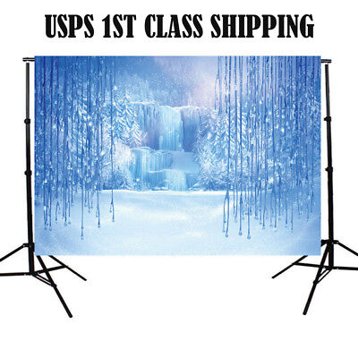 5x7ft Vinyl Ice Frozen World Backdrop Photography Props Photo Background Studio