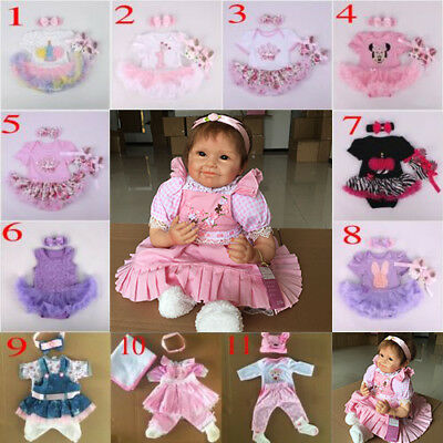 22'' Reborn dolls Baby clothes Dress dress Simulation Doll clothes skirt Gifts