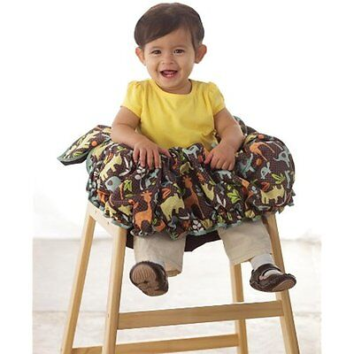 Shopping Cart Cover Baby Seat Basket Restaurant High Chair Cover Harness Belt