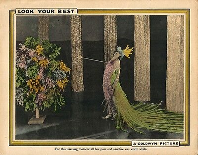 LOOK YOUR BEST (1923) Set of 2 lobby cards ft. Colleen Moore in butterfly outfit