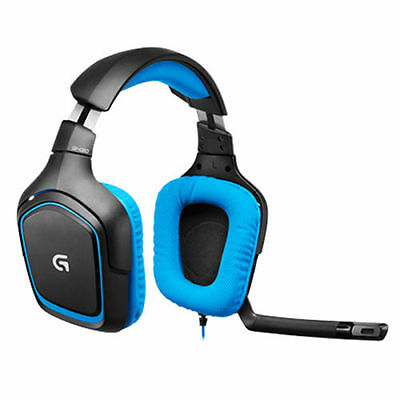 Logitech 981-000537 G430 7.1 Surround Sound Over-Ear Gaming Headset Black/Blue