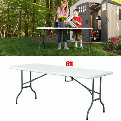 6FT Folding Camping Table Aluminium Picnic Portable Adjustable Party BBQ Outdoor
