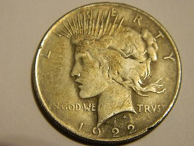 1922 USA Peace Dollar Two Face Coin   -- INV436