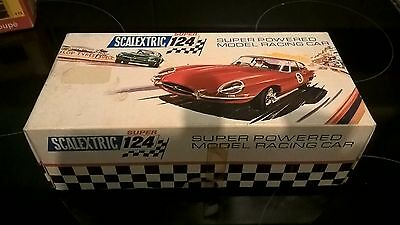 vintage scalextric super 124 alfa romeo in original box with instructions sheet