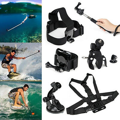 Accessories Kit Chest /Head /Wrist Strap +Handlebar Mount for Gopro Hero5 4 3+ 3