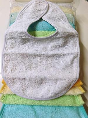 7 Bibs For Newborn By Little Angels Cotton Pile Polyester