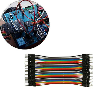 UK 40pcs/Row Jump Wire Jumper Cable 13cm 2.54mm Male to Male Arduino Breadboard