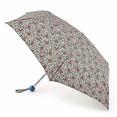 Cath Kidston Minilite Folding Umbrella - Squirrels Cream