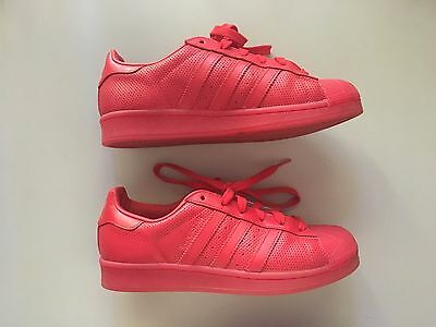Adidas Superstar Red Adicolour Mens 6.5, Womens 8.5 Shoes worn once