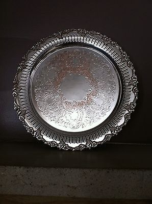 B.P Sheffield Reproduction Silver Plated Grape Vine Round Tray