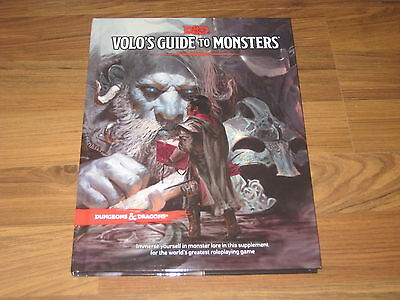 D&D 5th Edition Volo's Guide to Monsters Hardcover Sourcebook WotC 2016 Neu