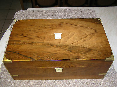 Antique Victorian Rosewood Campaign Style Writing Slope.