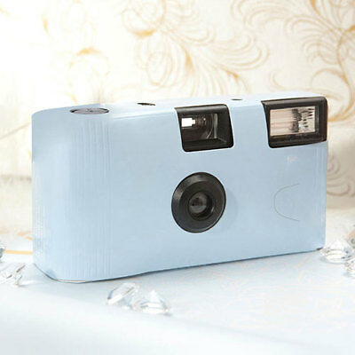 Pale Blue Disposable Cameras with Flash Favour Party Pack of 2