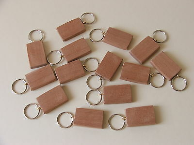 BEECH KEYRING BLANKS-New Listing-pyrograph or laser-12 in pack £4.75+£1-60post
