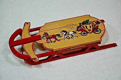Vintage Style Sled Wood Doll Display Christmas Ornament Prop Decoration
