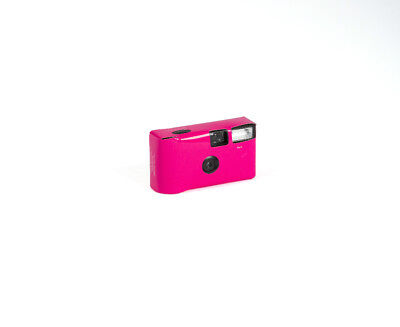 Bright Fuchsia Pink Disposable Cameras Favour Accessory Pack of 8