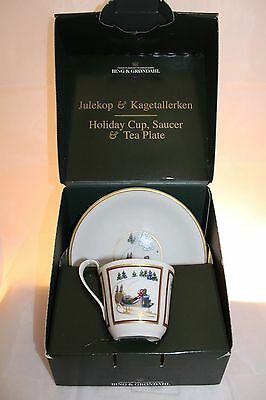 Bing & Grondahl 1998 Holiday Cup, Saucer & Tea Plate IOB Vintage Limited Edition
