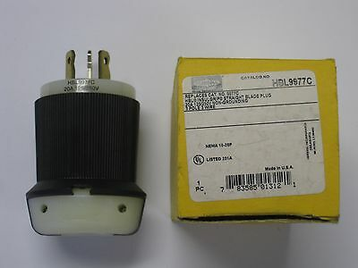 HBL9977C NEW in BOX Hubbell power plug 10-20P 20amp 120/250VAC Male