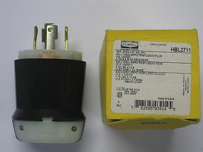 HBL2711 NEW in BOX Hubbell power plug L14-30P 30amp 120/250VAC Male twist lock