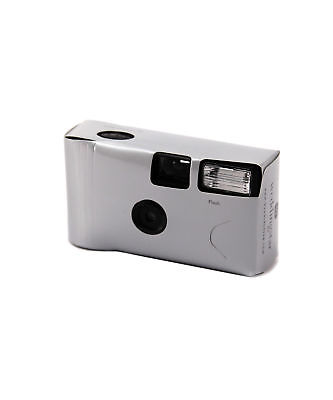 Disposable Cameras with Flash Classic Silver Pack of 8 Accessory