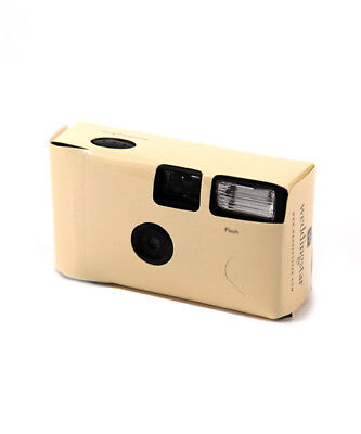 Ivory Disposable Cameras with Flash Pack of 8
