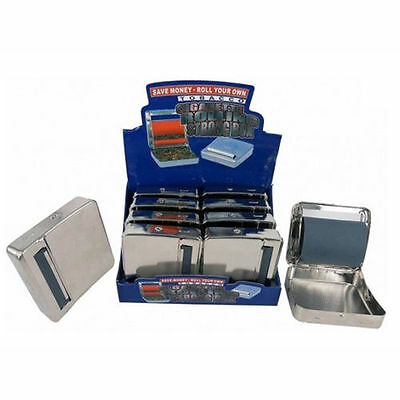 New Automatic Rolling Machine Tin Box Metal Roller Cigarette Tobacco Roll Up