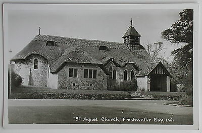 FRESHWATER BAY, St.Agnes Church, Isle of Wight - 1950's - Vintage postcard