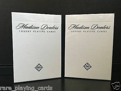 Set of 2 decks Madison Dealers playing cards (Erdnase Green and Black Bordered)