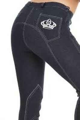 New Sherwood Forest Ladies Brambles Denim Look Jodhpurs Worldwide Ship Breeches